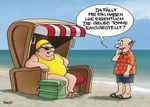 Postkarte A6 +++ CARTOON +++ GELBE TONNE