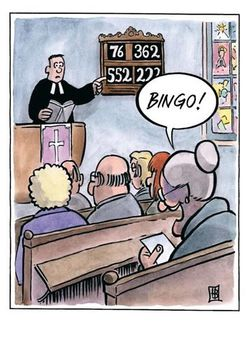 Postkarte A6 +++ CARTOON +++ BINGO