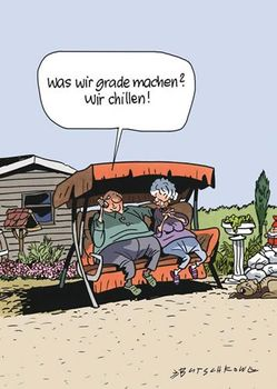 Postkarte A6 +++ CARTOON +++ CHILLEN