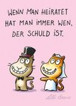 Postkarte A6 +++ CARTOON +++ WENN MAN HEIRATET