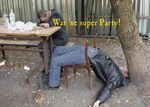 Postkarte A6 +++ LUSTIG +++ SUPER PARTY