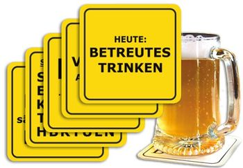 5er-Set: Bierdeckel 5x15 Stk. +++ MIX SET Nr. 1 +++ Freche BIERDECKEL IM PARTY-MIX – Bild 1