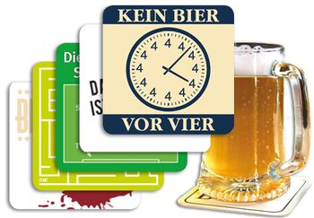 5er-Set: Bierdeckel 5x15 Stk. +++ MIX SET Nr. 1 +++ Lustige BIERDECKEL IM PARTY-MIX – Bild 1