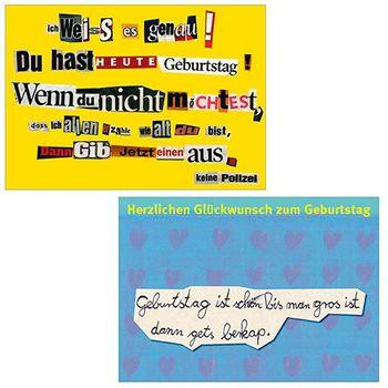 10er-Set: Postkarten A6 +++ MIX SET Nr. 2 +++ 10 lustige GEBURTSTAGS-Motive – Bild 6