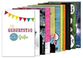 10er-Set: Postkarten A6 +++ MIX SET Nr. 2 +++ 10 schöne GEBURTSTAGS-Motive – Bild 1
