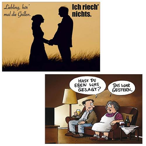 Postkarten Online-Shop | Lustig - Sprüche - Mann/Frau