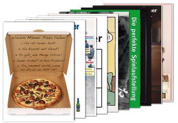 10er-Set: Postkarten A6 +++ MIX SET Nr. 1 +++ 10 lustige TYPISCH MANN-Motive – Bild 1