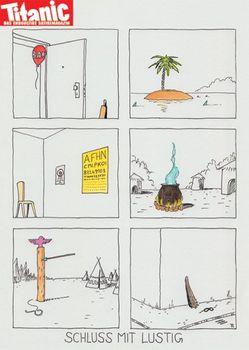 Postkarte A6 +++ TITANIC +++ SCHLUSS MIT LUSTIG 201411