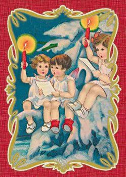 Postkarte A6 +++ WEIHNACHTEN +++ SINGALING