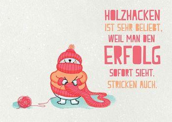 Postkarte A6 +++ LUSTIG +++ HOLZHACKEN IST SEHR BELIEBT