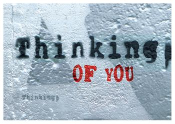 Postkarte A6 +++ LUSTIG +++ THINKING OF YOU