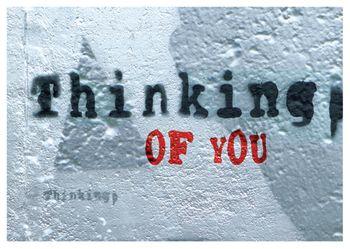 Postkarte A6 +++ LUSTIG +++ THINKING OF YOU