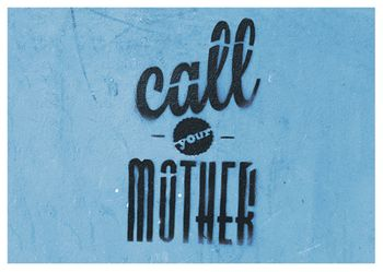 Postkarte A6 +++ LUSTIG +++ CALL YOUR MOTHER