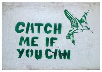 Postkarte A6 +++ LUSTIG +++ CATCH ME IF YOU CAN