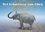 Postkarte A6 +++ LUSTIG +++ VIEL GEBURTSTAG