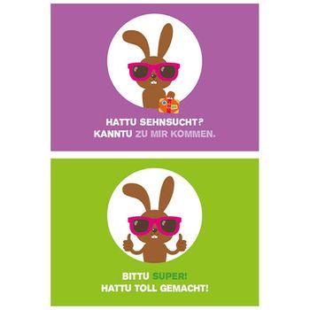 10er-Set: Postkarten A6 +++ MIX SET Nr. 1 +++ 10 süße HATTU HÄSCHEN-Motive – Bild 6