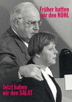 Postkarte A6 +++ LUSTIG +++ FRÜHER HATTEN WIR DEN KOHL