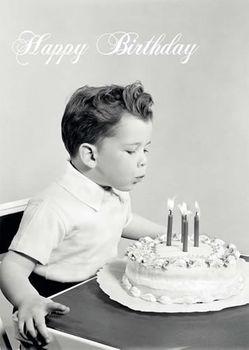 Postkarte A6 +++ LUSTIG +++ HAPPY BIRTHDAY JUNGE PUSTET KERZEN AUS
