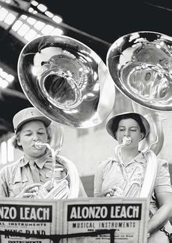 Postkarte A6 +++ LUSTIG +++ PLAYING TUBAS IN BAND