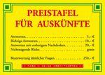 Postkarte A6 +++ LUSTIG +++ PREISTAFEL FÜR AUSKÜNFTE