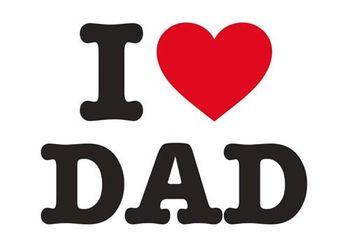 Postkarte A6 +++ LUSTIG +++ I LOVE DAD
