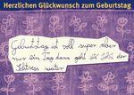 Postkarte A6 +++ LUSTIG +++ GEBURTSTAG IST VOLL SUPER ...