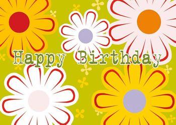 Postkarte A6 +++ LUSTIG +++ HAPPY BIRTHDAY BLUMEN