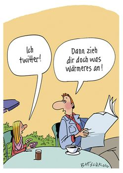 Postkarte A6 +++ CARTOON +++ ICH TWITTER!