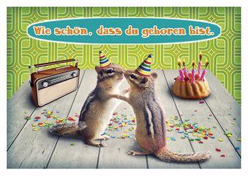 Postkarte A6 +++ LUSTIG +++ WIE SCHÖN