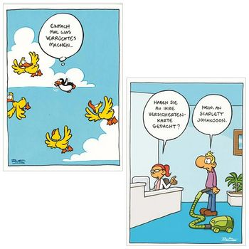 10er-Set: Postkarten A6 +++ MIX SET Nr. 1 +++ 10 lustige RALPH RUTHE-Cartoons – Bild 5