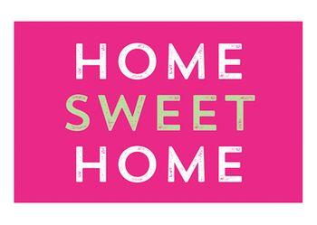 Magnet 8,5x5,5 cm +++ LUSTIG +++ HOME SWEET HOME