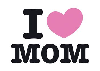 Magnet 8,5x5,5 cm +++ LUSTIG +++ I LOVE MOM