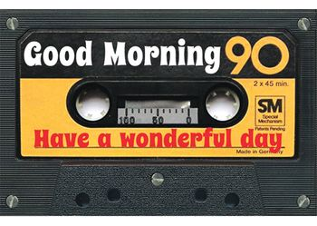 Magnet 8,5x5,5 cm +++ LUSTIG +++ GOOD MORNING