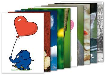 10er-Set: Postkarten A6 +++ MIX SET Nr. 1 +++ 10 schöne HERZ / LIEBE / HOCHZEIT-Motive – Bild 1