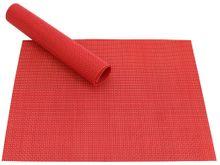 Tischset Platzset ELEGANCE rot gewebt Kunststoff 1 Stk. 46x33 cm