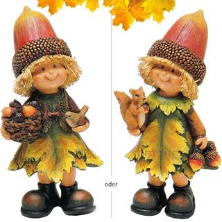 Herbstwichtel Wichtel Deko Figur 1 Stk. Vögelchen / Eichhörnchen Herbstdeko