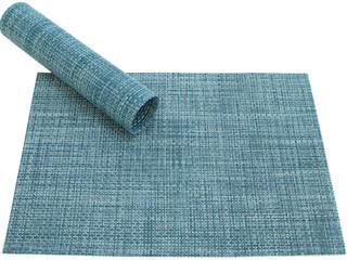 Tischset Platzset ELEGANCE blau hellblau gewebt Kunststoff 1 Stk. 45x30 cm
