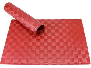 Tischset Platzset MODERN bordeaux rot geflochten Kunststoff 1 Stk. 45x30 cm