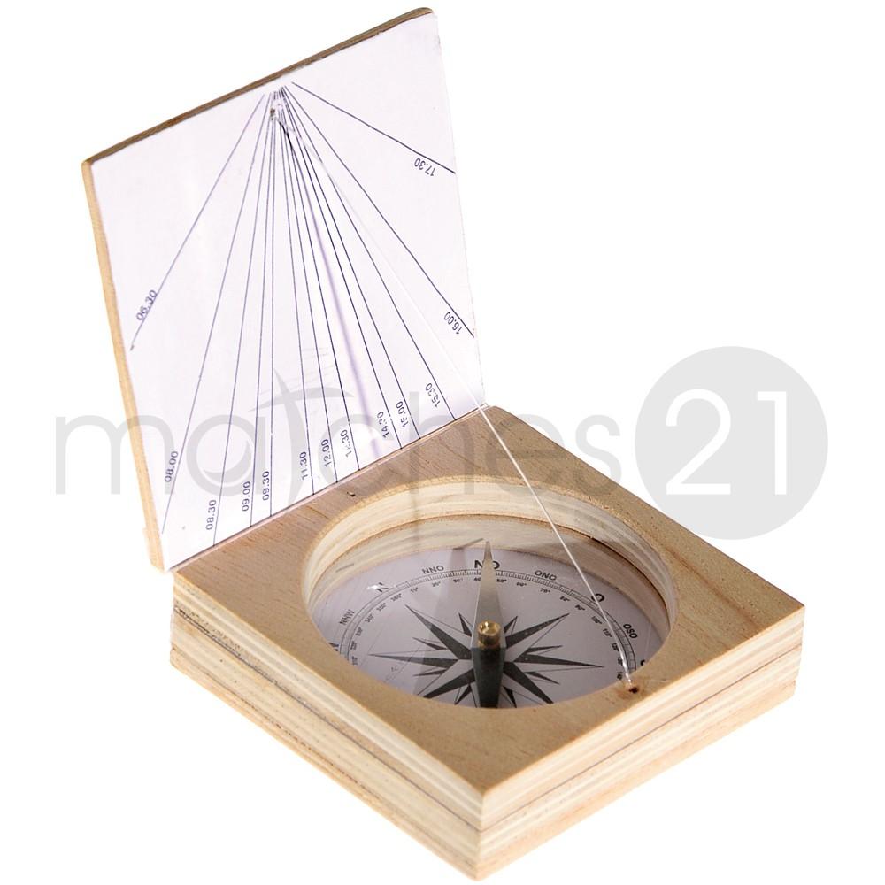 magnetkompass mit sonnenuhr bausatz f kinder werkset bastelset ab 10 j kaufen matches21. Black Bedroom Furniture Sets. Home Design Ideas