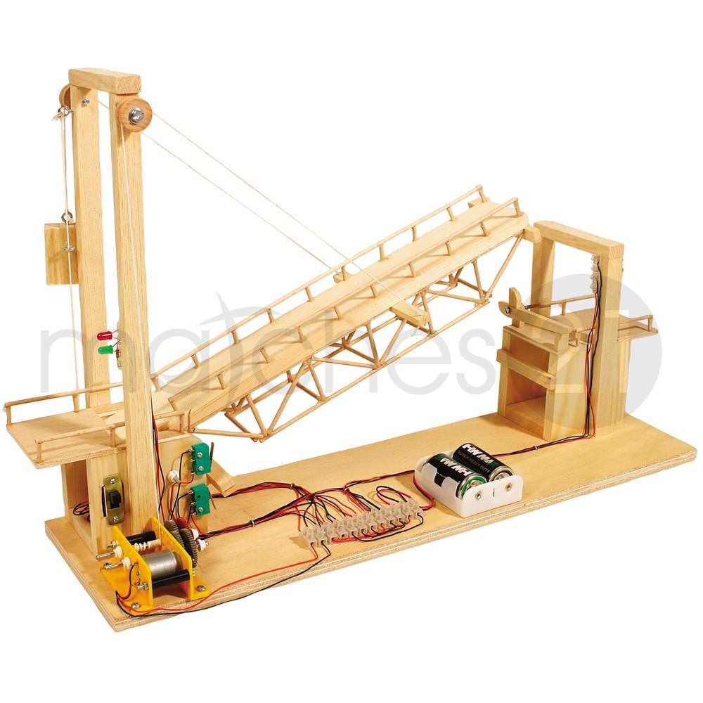 zugbrücke bausatz f. kinder werkset bastelset ab 13 jahren kaufen