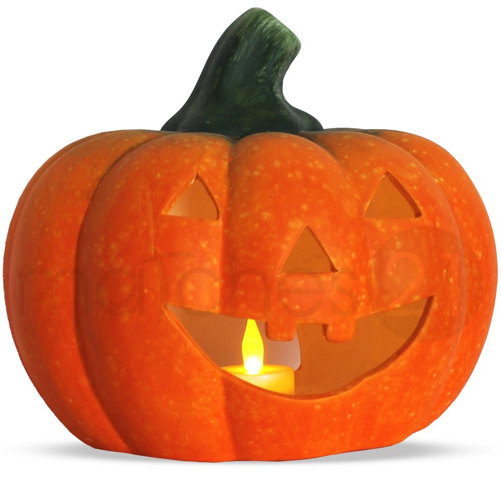 jack o 39 lantern halloween k rbis windlicht 21x19 cm ton. Black Bedroom Furniture Sets. Home Design Ideas