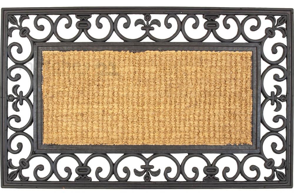 fu matte fu abstreifer kokosmatte natur rechteckig mit gummirahmen 45x75x1 5cm kaufen matches21. Black Bedroom Furniture Sets. Home Design Ideas