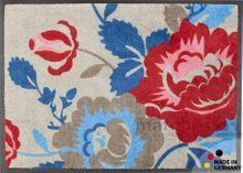 Fußmatte Fußabstreifer EXCLUSIVE Rosen rot-blau 75x120x0,8cm waschbar 001