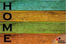 Fußmatte Fußabstreifer Holzdiele Home 50x80x0,5cm extra flach waschbar 001
