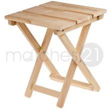 Holz-Klapphocker Klapp-Sitz Kiefer 32x38x40 cm Kinder Bausatz Werkset Bastelset ab 12 J.