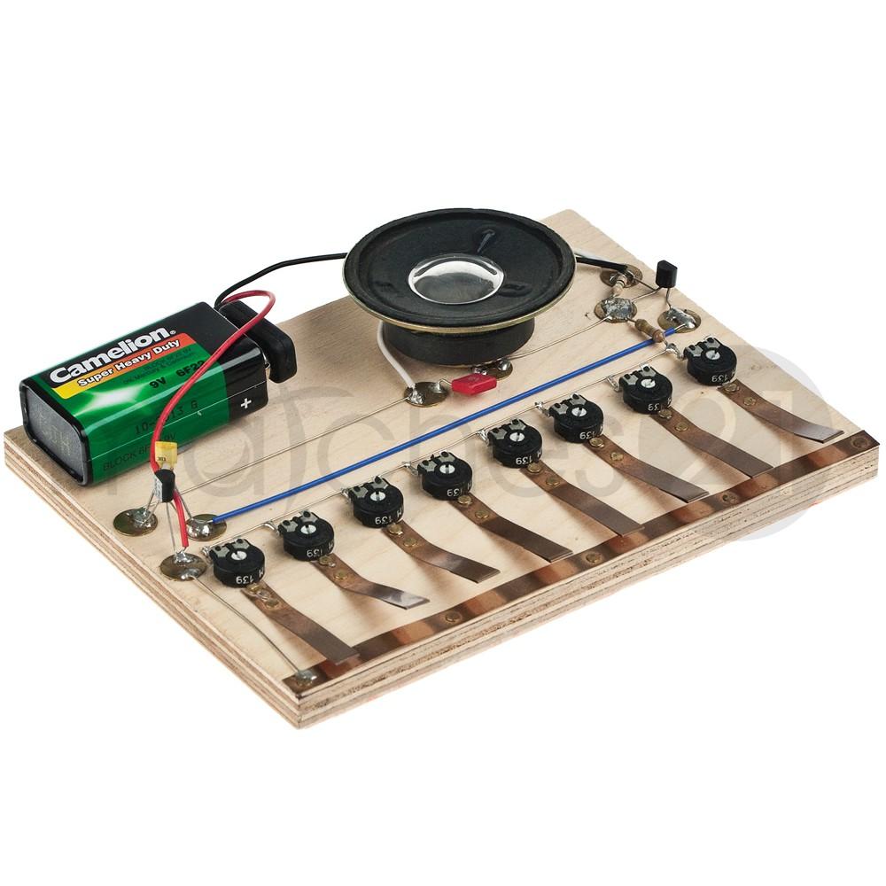 miniatur-orgel elektronik kinder bausatz werkset bastelset ab 12 j