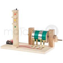 Funktionsmodell Ampelanlage LED 20x10x15 cm Kinder Bausatz Werkset Bastelset ab 12 J.