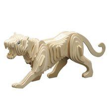 Tiger Tiermotiv 3D Holz Steckbausatz Bausatz / Kinder Bastelset ab 8 Jahren