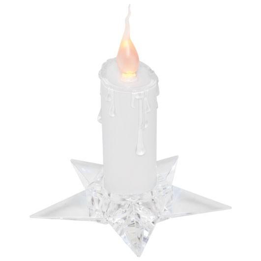 Weihnachtsdeko Led Kerzen.Led Kerze Weiß Im Kerzenhalter 17 Cm Gelbe Led Weihnachtsdeko