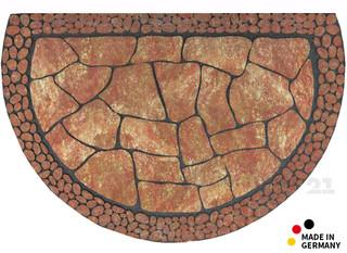 Fußmatte NATURE Fliesenoptik terra recycelter Gummi 58x89 cm